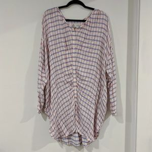 Oversized Plaid Top ANTHROPOLOGIE